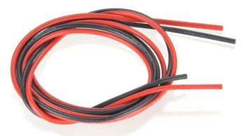 cavo siliconico rosso-nero 3,0 mm² AWG12 (1+1mt)