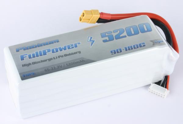 Batteria Lipo 6S 5200mAh 90C PLATINUM - XT90