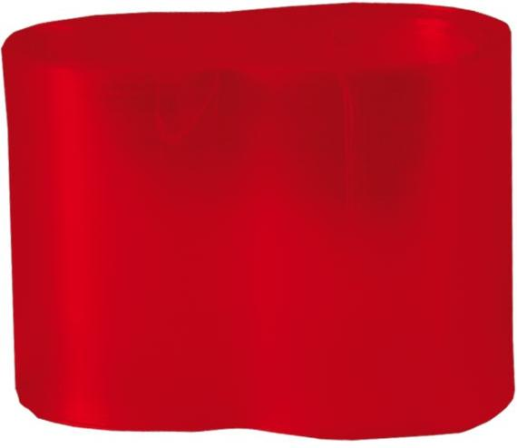 Guaina termoretraibile rossa trasparente 69 mm x 100 cm