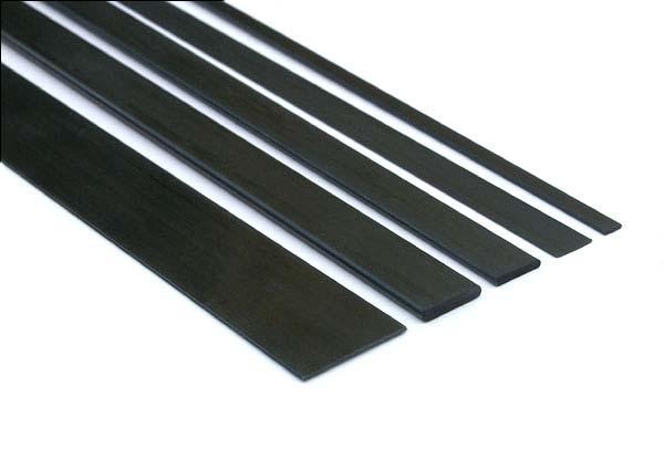 Listello in carbonio pieno 3x15x1000 mm