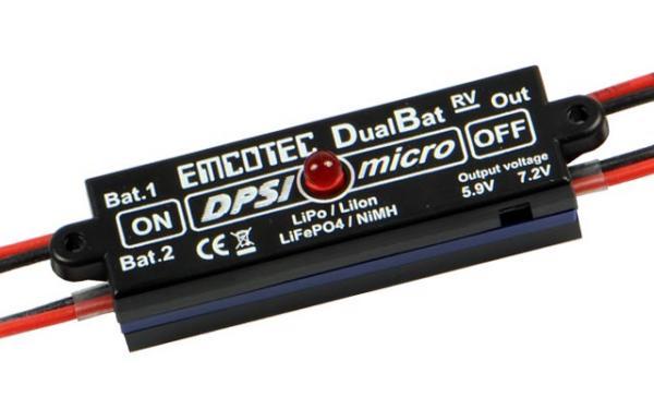 DPSI Micro DualBat 5.9V/7.2V JR - dual power supply