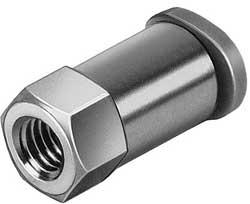 Raccordo filettato femmina M5 per tubo da 4 mm