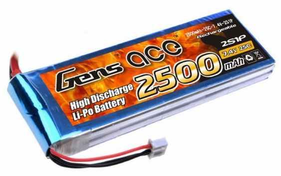 Batteria Lipo 2S 2500 mAh 25C - XT60
