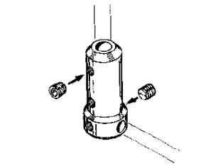 Angolo per gambe carrelli Ø 3 mm 1 pz
