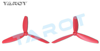 Coppia eliche tripala 5x4,5 (standard + inversa) rosse