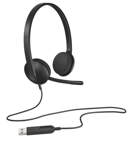 CUFFIA CON MICROFONO USB H340 HEADSET