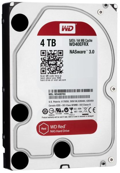HD 3,5 4TB 5400RPM 64MB SATA3 RED WD RED NAS