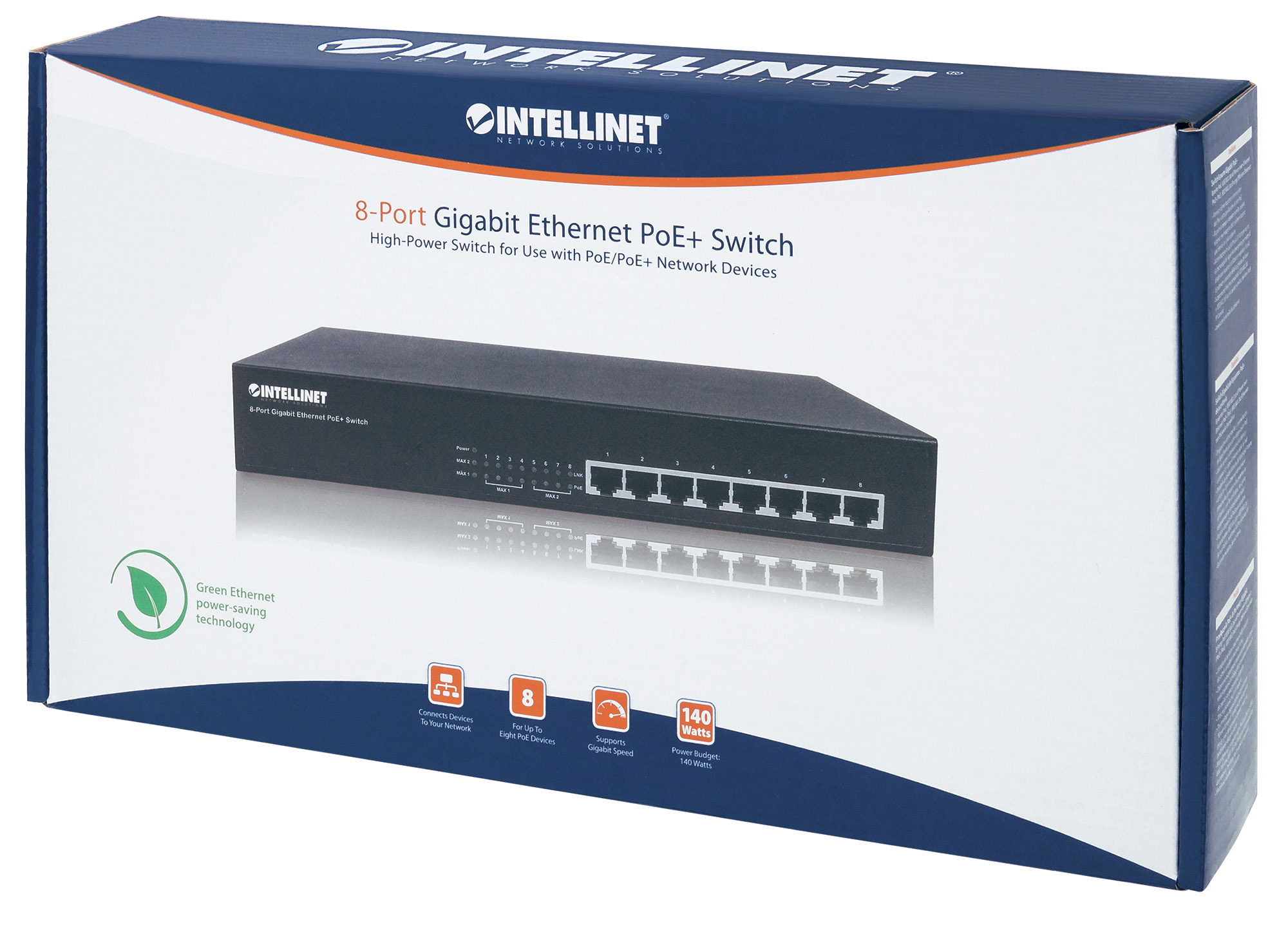 Switch 8 porte Gigabit PoE+