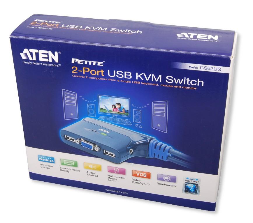 Switch KVM USB VGA a 2 Porte con Audio, CS62US