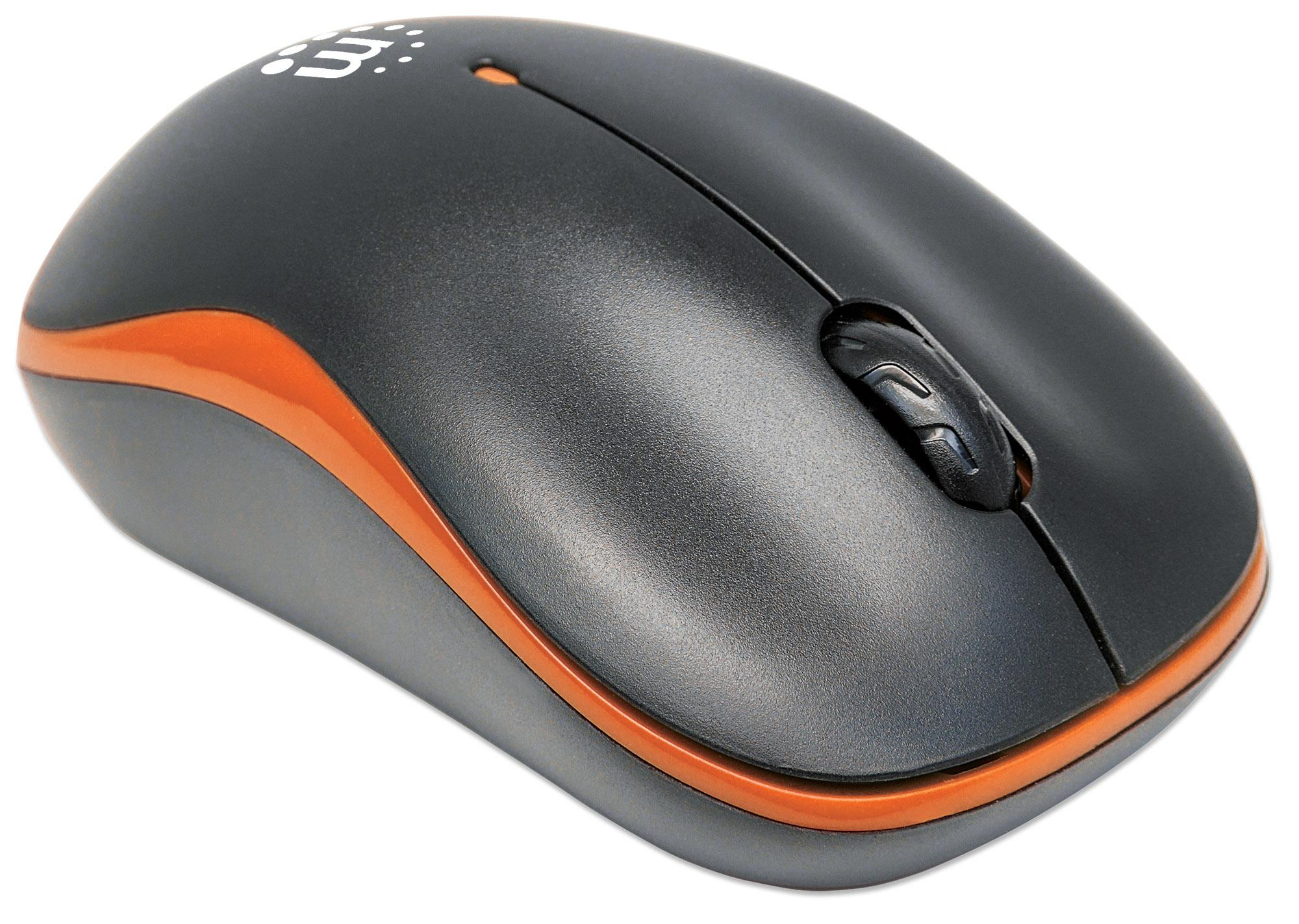 Mouse Ottico Wireless con Micro Ricevitore USB 1000dpi Nero/Aran