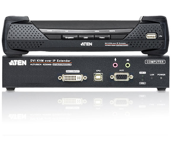 Extender KVM USB DVI over IP 1920x1200 KE6900