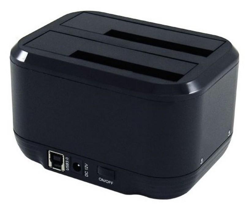 Docking Station USB3.0 Doppio Slot per HDD/SSD SATA da 2.5  /3.5