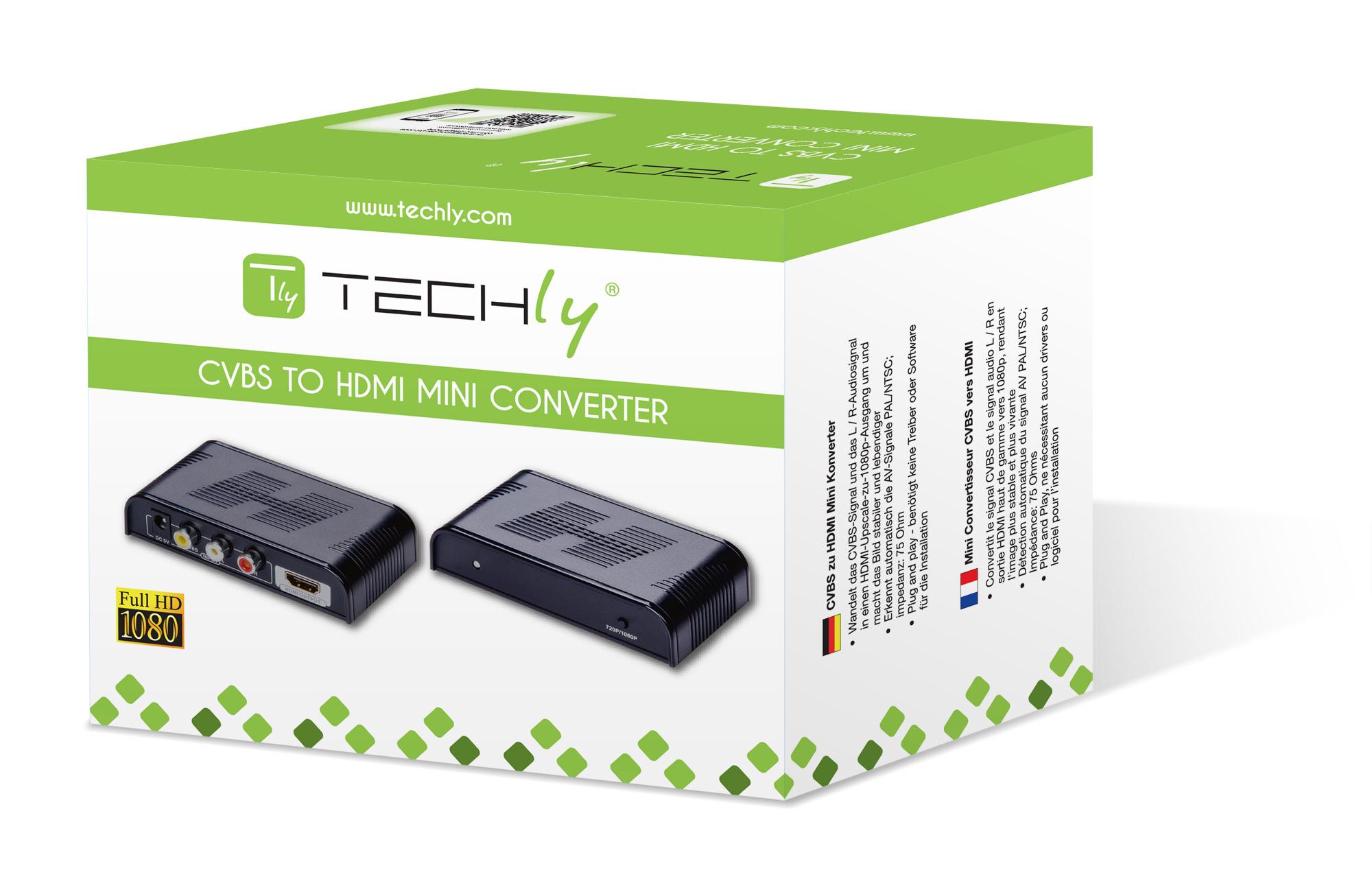 Convertitore da Video Composito CVBS e Audio a HDMI con scaler
