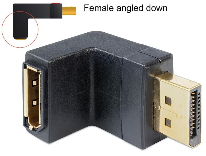 Adattatore Displayport 1.1 maschio a DisplayPort femmina angolat