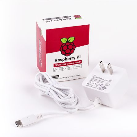 Raspberry Pi Official Power Supply 15.3W USB-C with 1.5M Cable -