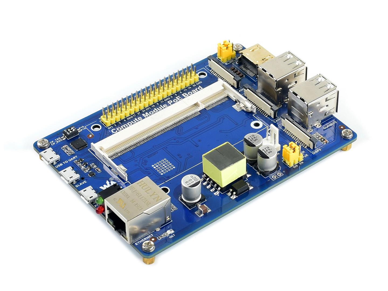 Raspberry Pi Compute Module IO Board with PoE Feature, for Raspb