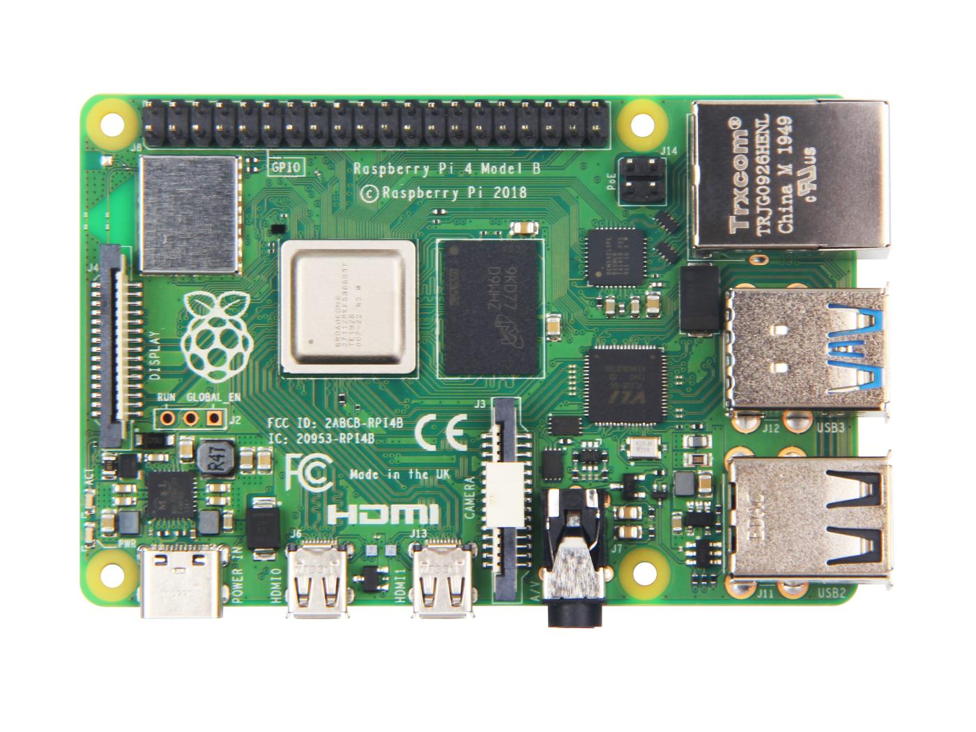 Raspberry Pi 4 Computer Model B 2GB V1.2