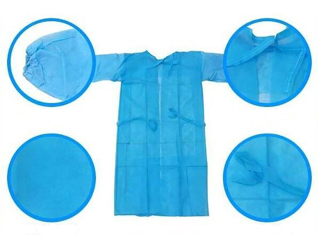 Personal Protection Isolation Gown - 4 Pack
