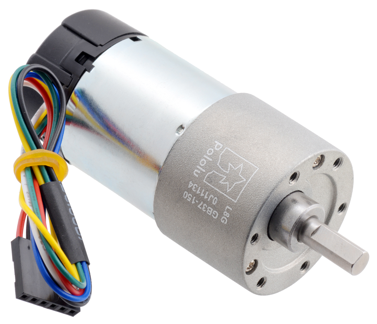 150:1 Metal Gearmotor 37Dx73L mm 24V with 64 CPR Encoder (Helica