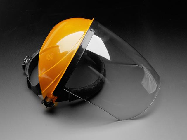 Round Covered Flip-Top Plexiglass Face Shield