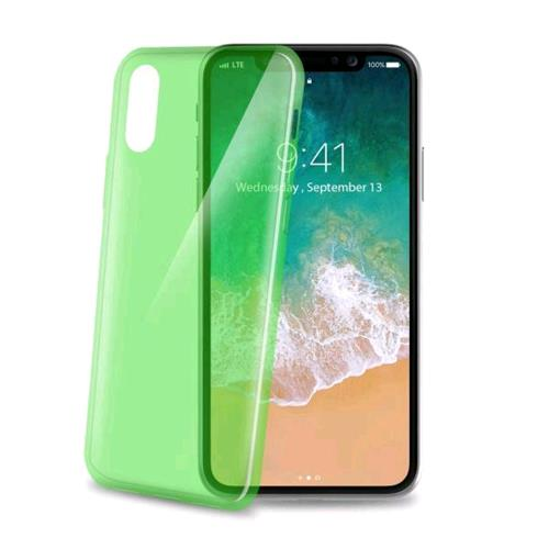 CELLY COVER ULTRATHIN iPHONE X COVER IN TPU COLORE VERDE