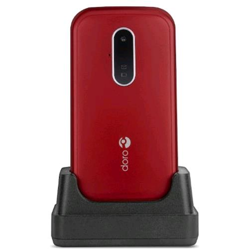 """DORO 7030 2.8"""" CLAMSHELL GPS WATSAPP 4G LTE ITALIA RED/WHITE"""