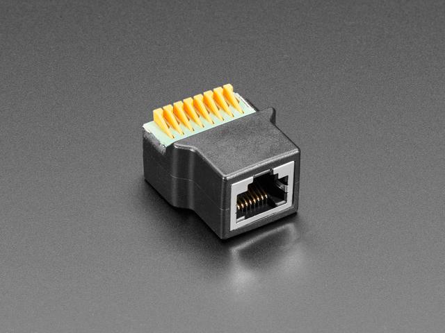 RJ-45 Ethernet Female Socket to Terminal Spring Block Adapter