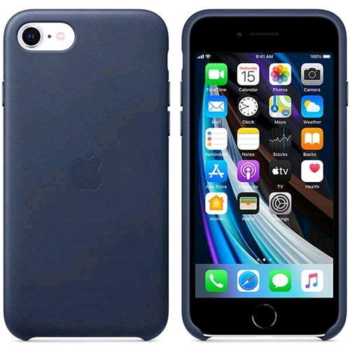 APPLE iPHONE SE 2020 LEATHER CASE CUSTODIA IN PELLE MIDNIGHT BLU