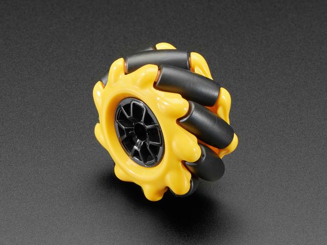 Left Mecanum Wheel - 48mm Diameter - TT Motor or Cross Axle