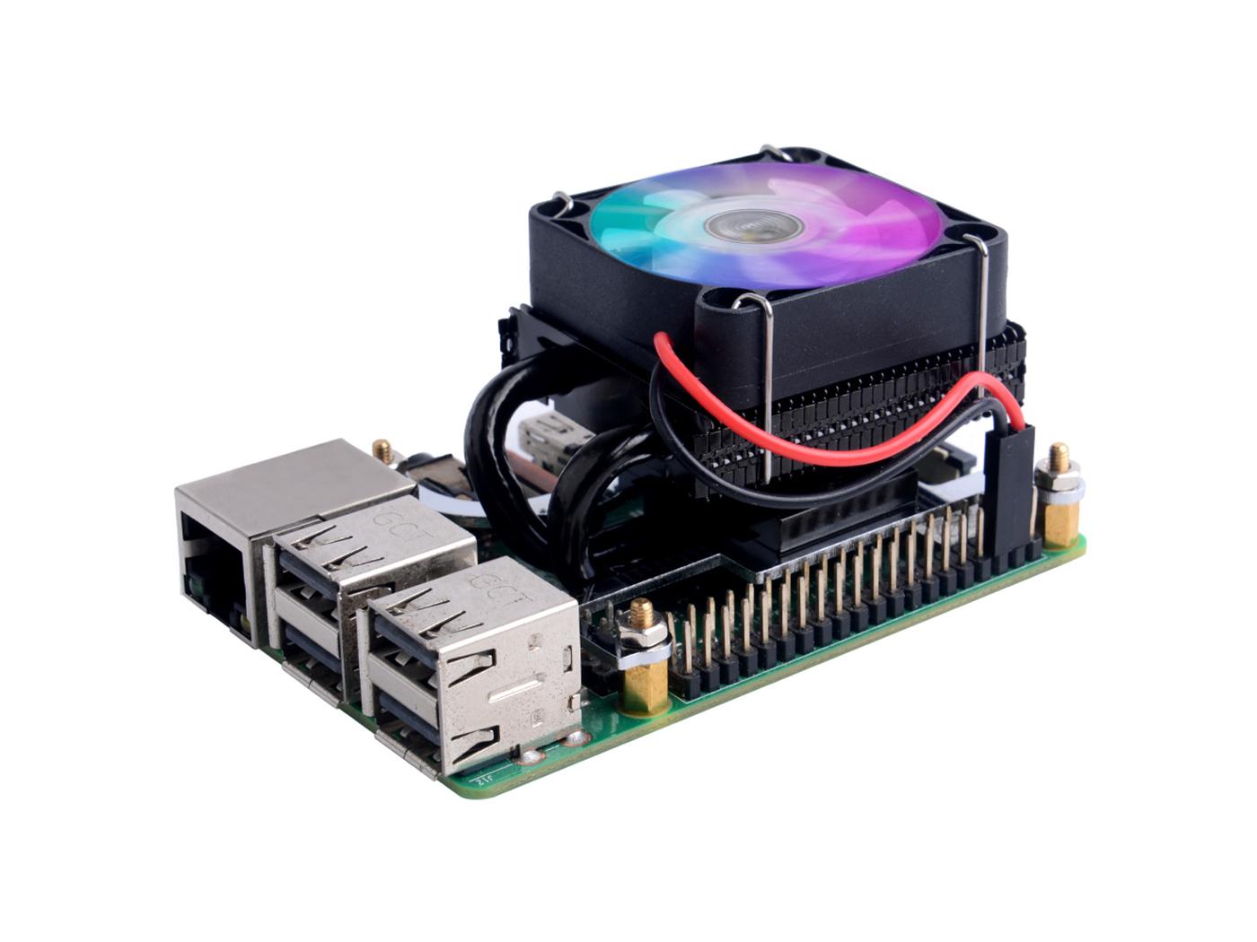Black Low-Profile ICE Cooling Fan for Raspberry Pi 3B/3B+/4B