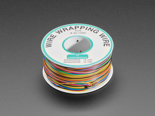 Rainbow  (inches)Wire Wrap (inches) Thin 30 AWG Prototyping & Re