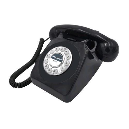 MAJESTIC PHF-MAX-253 TELEFONO FISSO VINTAGE BLACK