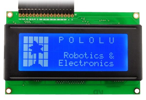 20x4 Character LCD with LED Backlight