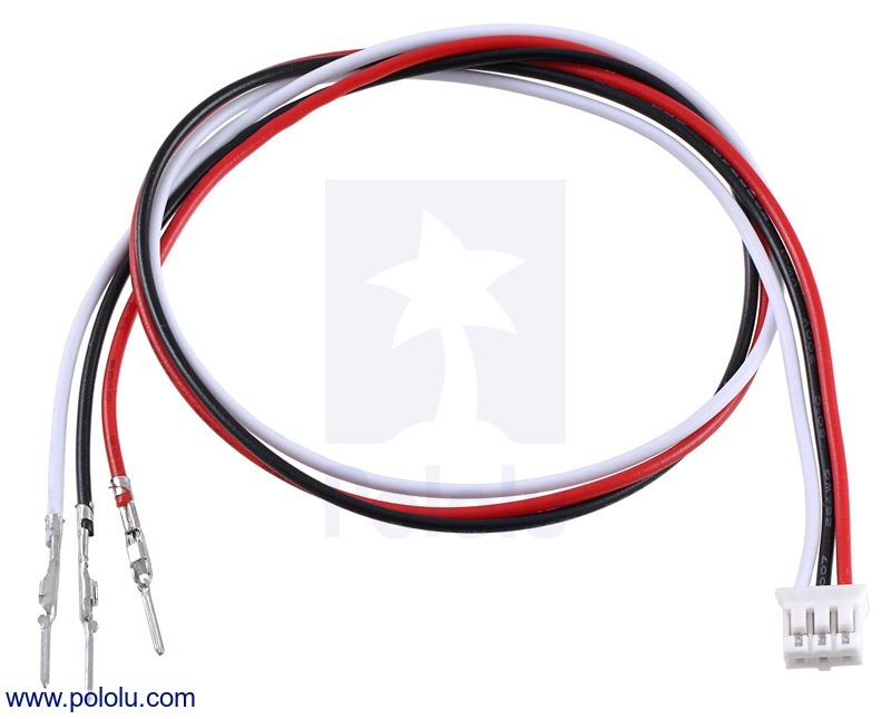 3-Pin Female JST PH-Style Cable (30 cm) with Male Pins for 0.1""