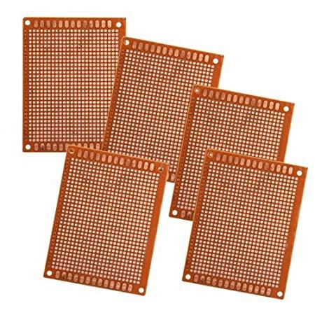 5 BASETTE SCHEDE PCB PROTOTIPAZIONE MILLEFORI CM 9x7