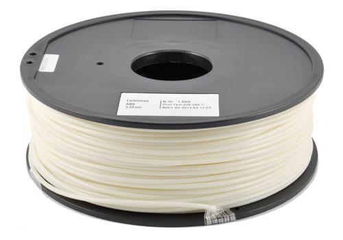 ABS Luminescente su bobina per stampanti 3D - 1 kg