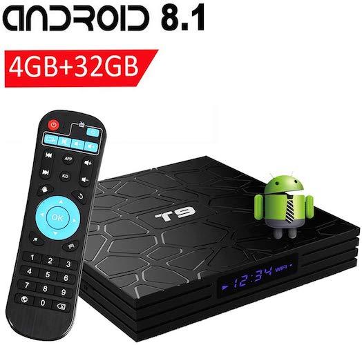 ANDROID BOX TV T9 RK3328 4K ULTRA HD QUAD CORE 4GB 32GB USB HDMI