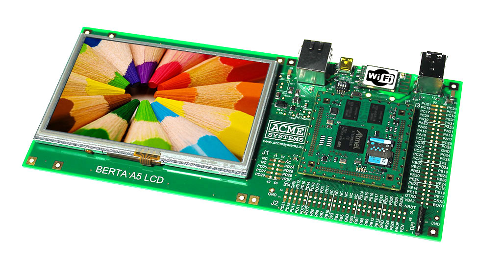 Acqua A5 + 7 inch TFT LCD evaluation kit