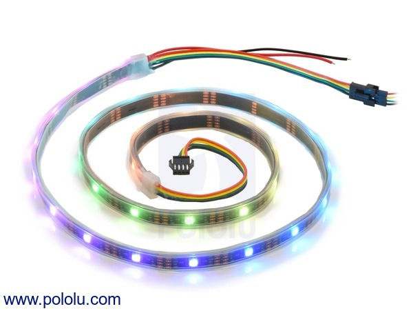 Addressable RGB 30-LED Strip, 5V, 1m (SK9822)