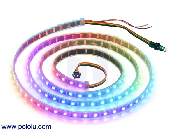 Addressable RGB 120-LED Strip, 5V, 2m (SK9822)