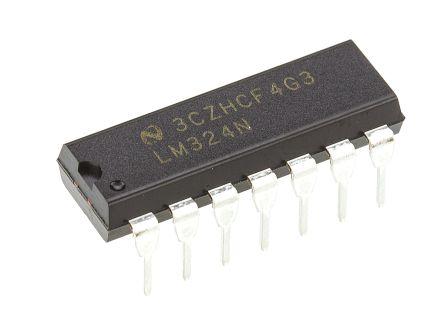Amplificatore operazionale LM324N/NOPB, alimentazione doppia/sin