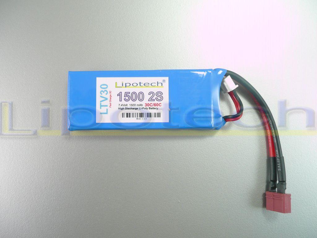 Batteria LIPO (polimeri di litio) LTV30 1500mAh 7,4 Volt