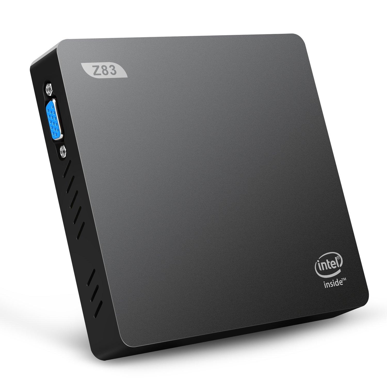 Bqeel - Z83-V Mini PC Windows 10 Home, Intel Atom x5-Z8350, Inte