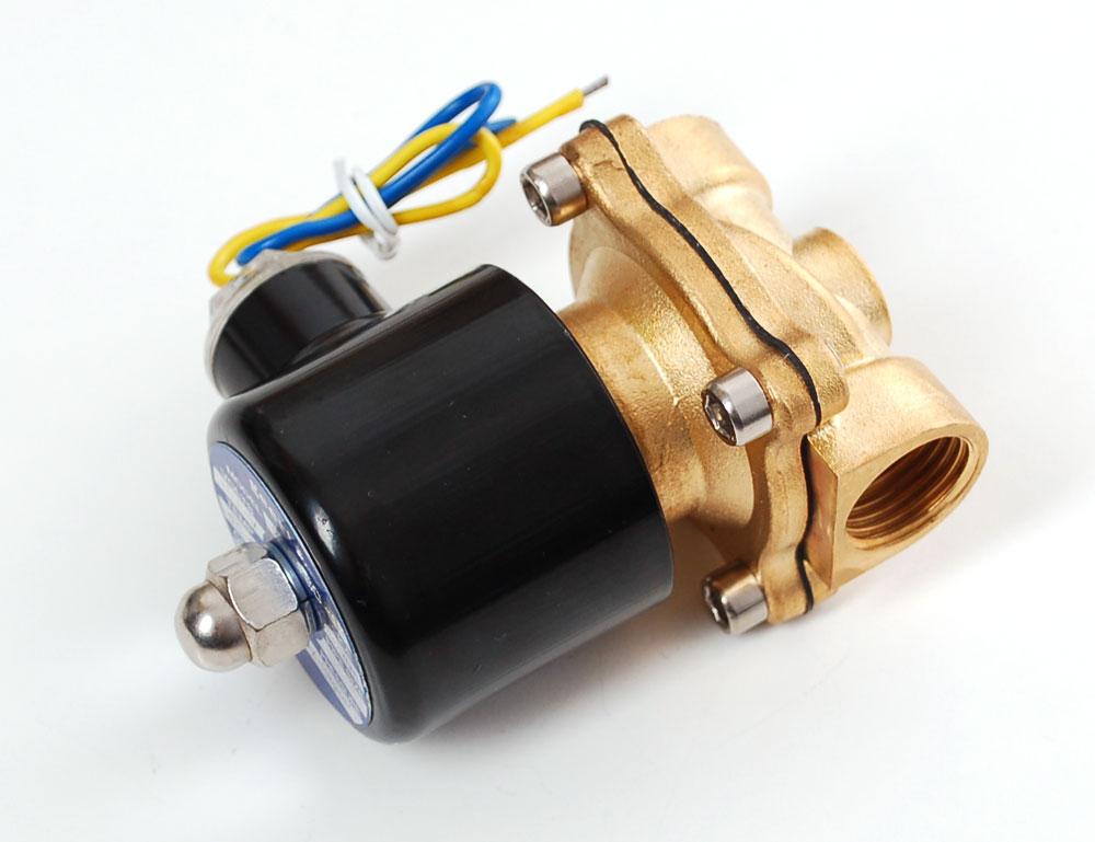 Brass Liquid Solenoid Valve - 12V - 1/2 NPT -