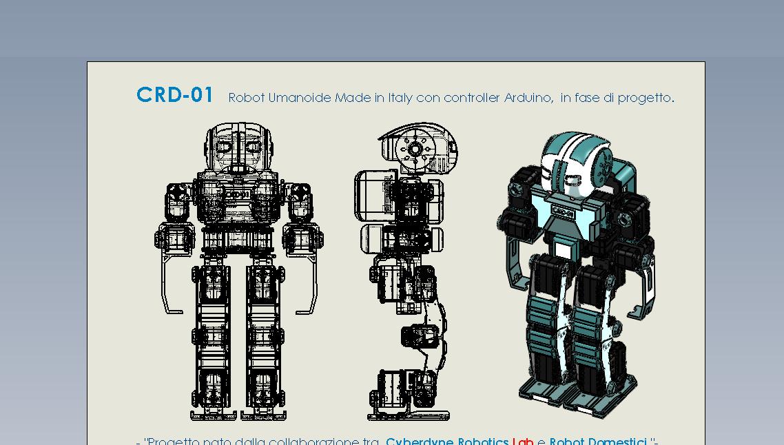 CRD-01 - Home - Robot Umanoide Arduino