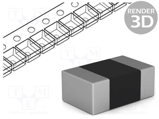Capacitors10nF TME C0805F103K5RAC