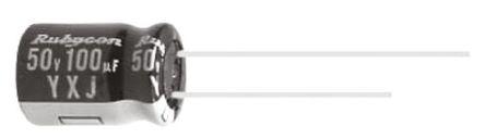 Condensatore elettrolitico radiale Rubycon YXJ 100 micro F, ±20%