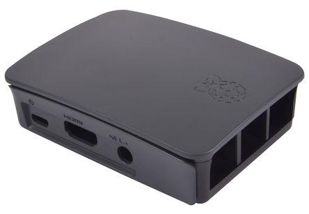 Contenitore ufficiale per Raspberry Pi 3 Model B, 2 B, B+, nero/