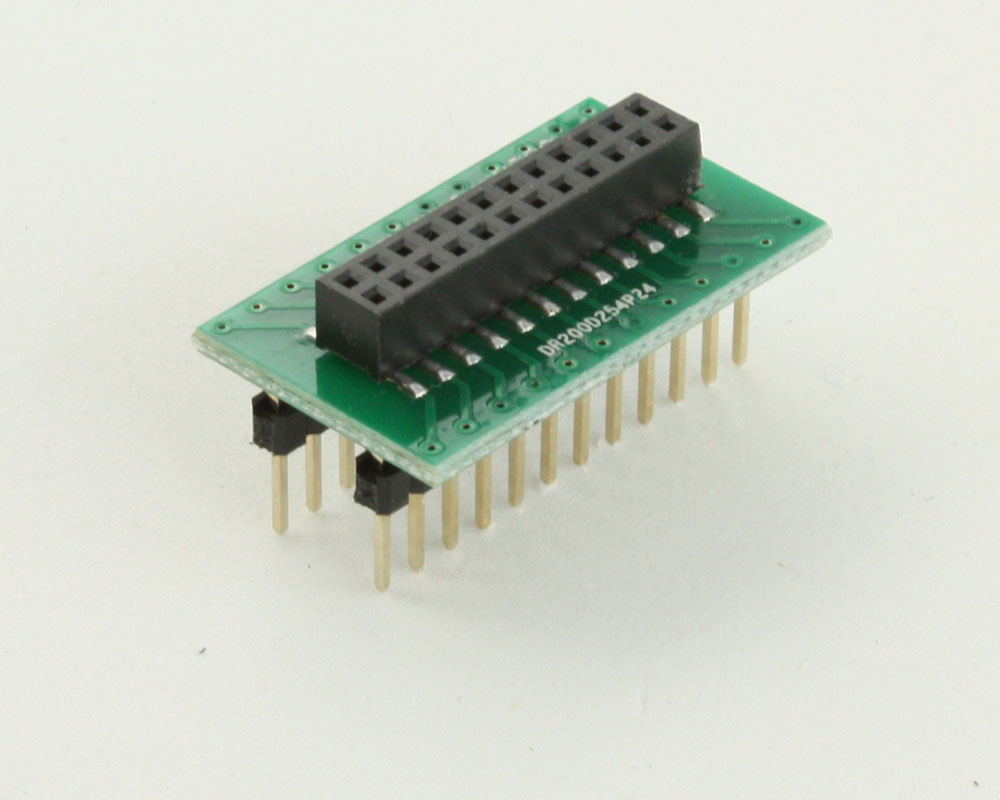 Dual Row 2.00mm Pitch 24-Pin Female Header to DIP-24 Adapter
