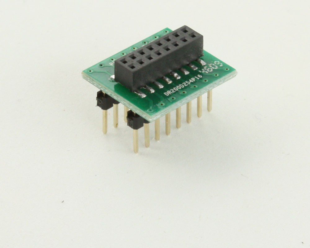 Dual Row 2.00mm Pitch 16-Pin Female Header to DIP-16 Adapter